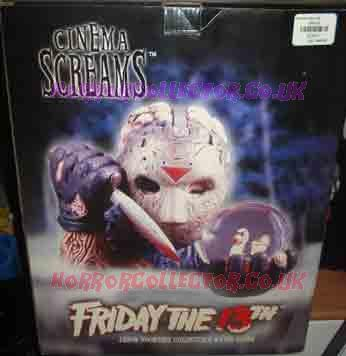 FRIDAY THE 13th JASON CINEMA SCREAMS WATER GLOBE on HorrorCollector