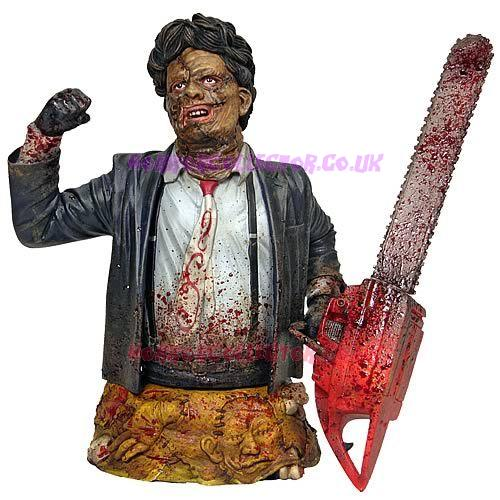 TEXAS CHAINSAW MASSACRE 2 GENTLE GIANT LEATHERFACE BUST on HorrorCollector