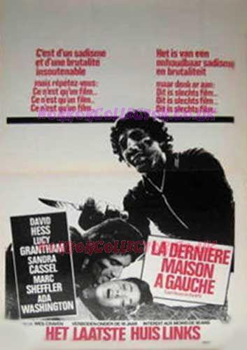 LAST HOUSE ON THE LEFT 1972 BELGIAN MOVIE POSTER on HorrorCollector