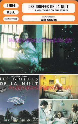 A NIGHTMARE ON ELM STREET FRENCH MONSIEUR CINEMA CARDS on HorrorCollector