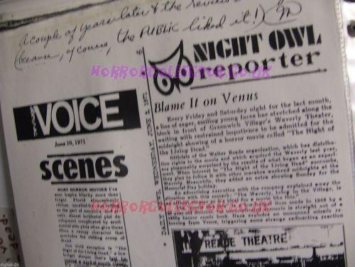 NIGHT OF THE LIVING DEAD SCRAPBOOK VOL 2 MARILYN EASTMAN  on HorrorCollector