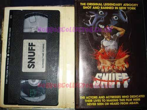 SNUFF UK PRE CERT VHS VIDEO NASTY Horror Collector