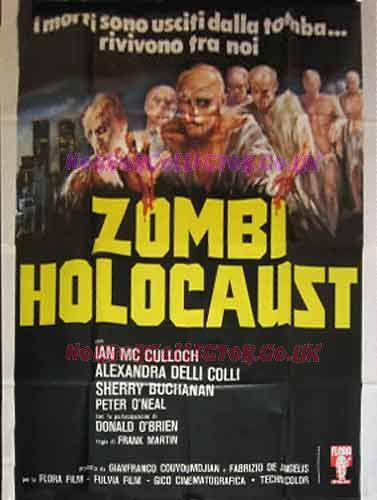 ZOMBIE HOLOCAUST ITALIAN 4 SHEET LARGE POSTER on HorrorCollector
